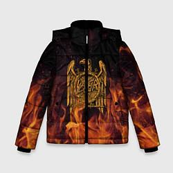 Детская зимняя куртка для мальчика с принтом Slayer: Fire Eagle, цвет: 3D-черный, артикул: 10155330106063 — фото 1