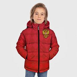Детская зимняя куртка для мальчика с принтом Форма сборной России, цвет: 3D-черный, артикул: 10155350706063 — фото 2