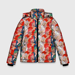 Куртка зимняя для мальчика Истинные фанаты России цвета 3D-черный — фото 1