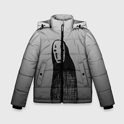 Детская зимняя куртка для мальчика с принтом Унесенные призраками, цвет: 3D-черный, артикул: 10155852706063 — фото 1