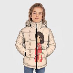 Детская зимняя куртка для мальчика с принтом Унесённые призраками, цвет: 3D-черный, артикул: 10155933306063 — фото 2