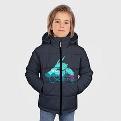 Детская зимняя куртка для мальчика с принтом Унесённые призраками, цвет: 3D-черный, артикул: 10155937706063 — фото 2