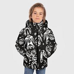 Куртка зимняя для мальчика Сибирские мотивы цвета 3D-черный — фото 2