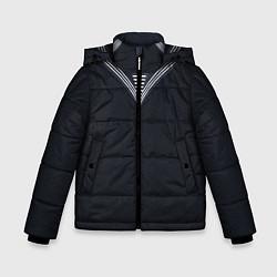 Куртка зимняя для мальчика Моряк ВМФ: черный цвета 3D-черный — фото 1