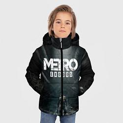 Детская зимняя куртка для мальчика с принтом Metro Exodus, цвет: 3D-черный, артикул: 10160290306063 — фото 2
