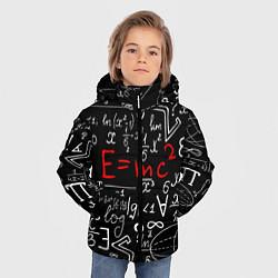 Куртка зимняя для мальчика Формулы физики цвета 3D-черный — фото 2