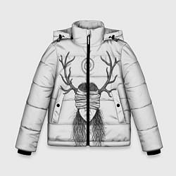 Куртка зимняя для мальчика True Detective: Horny Girl цвета 3D-черный — фото 1