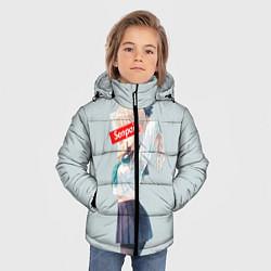Куртка зимняя для мальчика Senpai School Girl цвета 3D-черный — фото 2