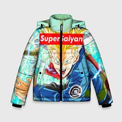 Куртка зимняя для мальчика DBZ: Super Saiyan цвета 3D-черный — фото 1