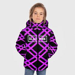 Куртка зимняя для мальчика Black Pink: Neon Lines цвета 3D-черный — фото 2