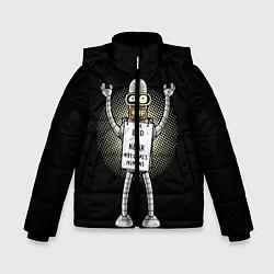 Куртка зимняя для мальчика Kill All Humans цвета 3D-черный — фото 1