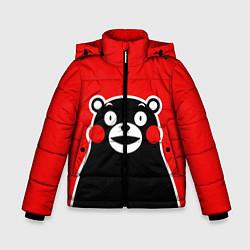 Детская зимняя куртка для мальчика с принтом Kumamon Smile, цвет: 3D-черный, артикул: 10162548106063 — фото 1