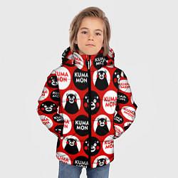 Куртка зимняя для мальчика Kumamon Pattern цвета 3D-черный — фото 2