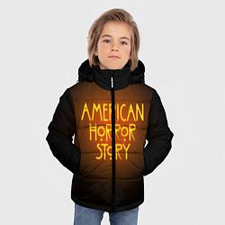 Куртка зимняя для мальчика AHS: Orange Light цвета 3D-черный — фото 2