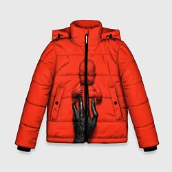Куртка зимняя для мальчика AHS: Blood Kid цвета 3D-черный — фото 1