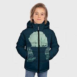 Куртка зимняя для мальчика Sherlock цвета 3D-черный — фото 2