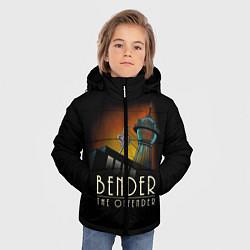 Куртка зимняя для мальчика Bender The Offender цвета 3D-черный — фото 2