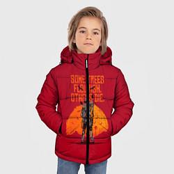 Куртка зимняя для мальчика Some trees flourish цвета 3D-черный — фото 2