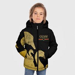 Куртка зимняя для мальчика GUSSI: Gold Edition цвета 3D-черный — фото 2