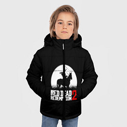 Куртка зимняя для мальчика RDR 2: Moonlight цвета 3D-черный — фото 2