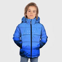 Куртка зимняя для мальчика Death Stranding: Blue Heaven цвета 3D-черный — фото 2