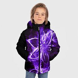Куртка зимняя для мальчика Цветок Тьмы цвета 3D-черный — фото 2