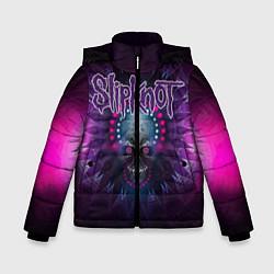Куртка зимняя для мальчика Slipknot: Neon Skull цвета 3D-черный — фото 1