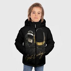 Детская зимняя куртка для мальчика с принтом Daft Punk: Get Lucky, цвет: 3D-черный, артикул: 10171252906063 — фото 2