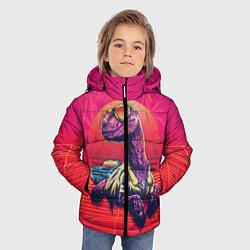 Куртка зимняя для мальчика Gangsta Dino цвета 3D-черный — фото 2