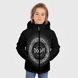 Куртка зимняя для мальчика DOOM: Pentagram цвета 3D-черный — фото 2