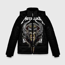 Куртка зимняя для мальчика Metallica: Hard Metal цвета 3D-черный — фото 1