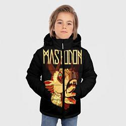 Детская зимняя куртка для мальчика с принтом Mastodon: Leviathan, цвет: 3D-черный, артикул: 10172767506063 — фото 2