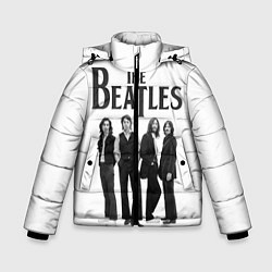 Куртка зимняя для мальчика The Beatles: White Side цвета 3D-черный — фото 1