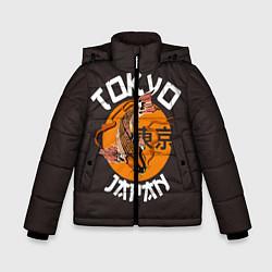 Детская зимняя куртка для мальчика с принтом Tokyo, Japan, цвет: 3D-черный, артикул: 10173433506063 — фото 1