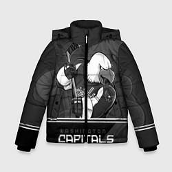 Куртка зимняя для мальчика Washington Capitals: Mono цвета 3D-черный — фото 1