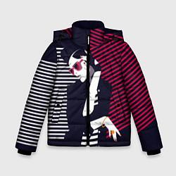 Детская зимняя куртка для мальчика с принтом Стильная женщина, цвет: 3D-черный, артикул: 10180643306063 — фото 1