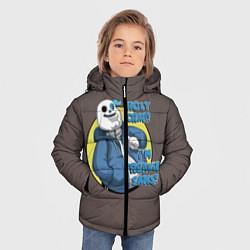 Куртка зимняя для мальчика Holy Crap цвета 3D-черный — фото 2