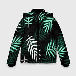 Куртка зимняя для мальчика Листья пальмы цвета 3D-черный — фото 1
