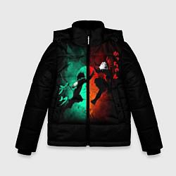 Детская зимняя куртка для мальчика с принтом No Hero Academia, цвет: 3D-черный, артикул: 10181198506063 — фото 1