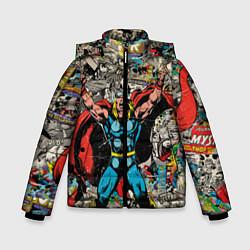 Куртка зимняя для мальчика Тор комикс цвета 3D-черный — фото 1