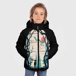 Куртка зимняя для мальчика Хранители Леса цвета 3D-черный — фото 2