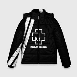 Куртка зимняя для мальчика Rammstein: Black цвета 3D-черный — фото 1