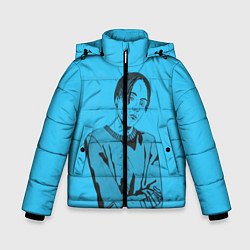Детская зимняя куртка для мальчика с принтом T-Fest, цвет: 3D-черный, артикул: 10182183106063 — фото 1