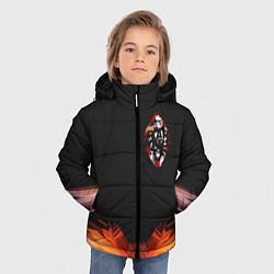 Куртка зимняя для мальчика Офицерский штурмовик цвета 3D-черный — фото 2