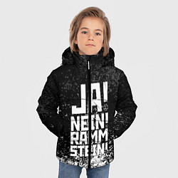 Куртка зимняя для мальчика Ja Nein: Rammstein цвета 3D-черный — фото 2