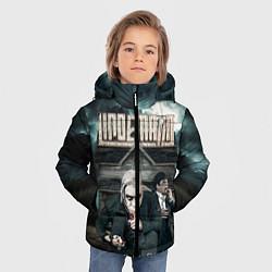 Куртка зимняя для мальчика LINDEMANN: Skills in Pills цвета 3D-черный — фото 2
