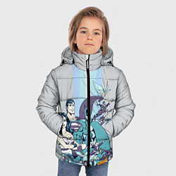 Куртка зимняя для мальчика The Justice League цвета 3D-черный — фото 2