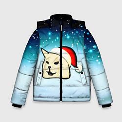 Куртка зимняя для мальчика Woman yelling at cat цвета 3D-черный — фото 1