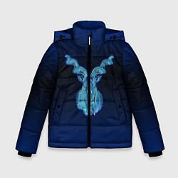 Куртка зимняя для мальчика Знаки Зодиака Козерог цвета 3D-черный — фото 1