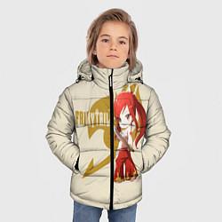 Куртка зимняя для мальчика Хвост Феи цвета 3D-черный — фото 2